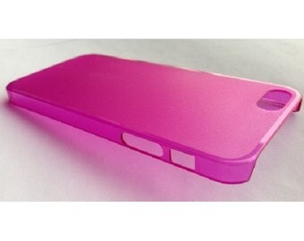Fixture Displays® Case, iPhone 5 Cover Sleeve Hard TPU Transparent Edge - Pink 11541