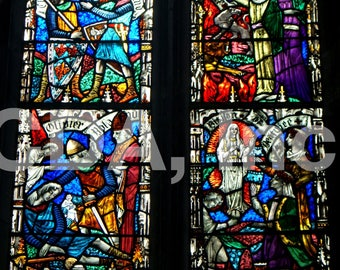 Stained Glass Window at Trinity College, Digital Download