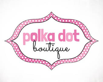 Premade Logo Design • Polka Dot Frame