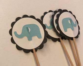 Elephant cupcake toppers