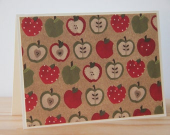 12 Apple Note Cards. Apple Card Set.  Blank Note Cards. Apple Gift. Teacher Card Set. Back to School Card Set.