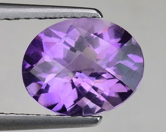 2.16cts Purple Oval Amethyst Natural Loose Gemstone