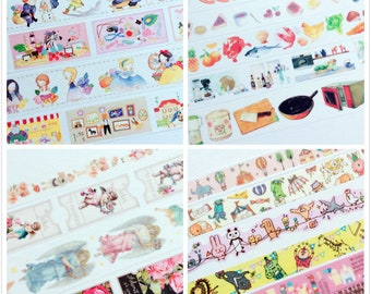 Sample Set - Fairy Tale Town/ Cooking Fun/ Angel and Fairy/ Circus Washi Tapes Sample Sets - 4 sets to choose