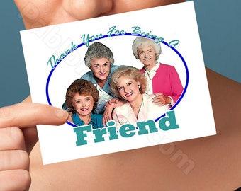 Funny Birthday Card   The Golden Girls  Card   anniversary bday congratulations wedding I love you pop culture blank friendship boyfriend