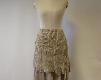 Amazing artsy natural linen skirt, M size. Only one sample.
