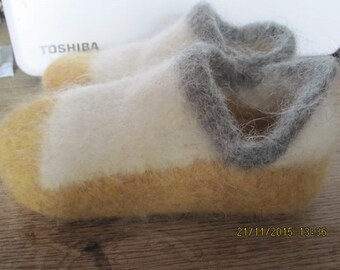 "Machine knitted ""Felted Shoes"".  Pattern PDF DOWNLOAD"
