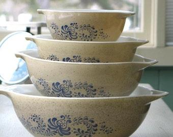 Vintage Pyrex Homestead Cinderella Mixing Bowls