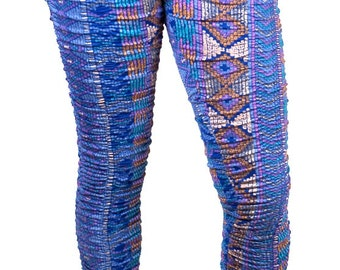 M056A Rouched Leggings Print