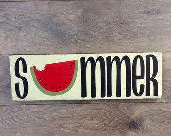 Summer|painted wood sign|summertime|summer wood sign|summer home decor|seasonal decor