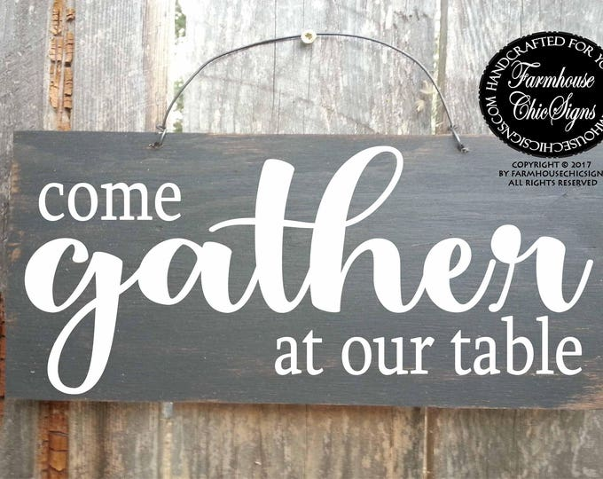 gather, gather sign, fall decor, fall decoration, autumn decor, autumn decoration, fall wall art, thanksgiving decor, gather at our table