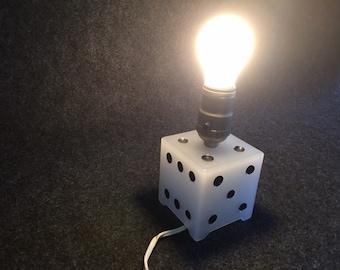 Vintage dice lamp