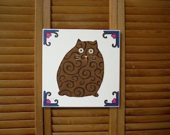 Fat Cat #4 Fabric Wall Art