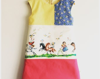 "Girls baby toddler dress ""A horses adventure"""