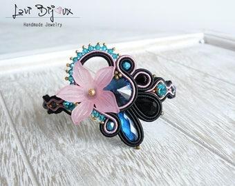 Soutache bracelet, Handmade bracelet, Hand Embroidered, Soutache Jewelry, Handmade from Italy, OOAK