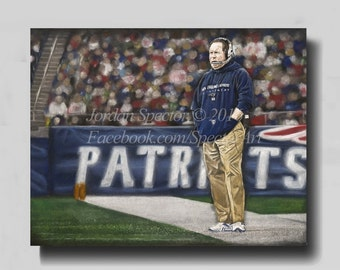 Patriots Wall Art tom brady canvas | etsy