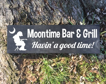 Painted Wood Sign - Widespread Panic - Moontime Bar (Porch Song)