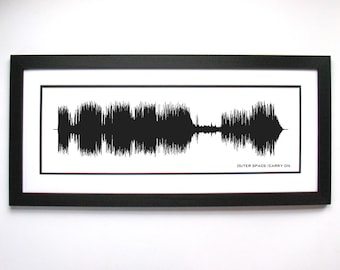 Outer Space / Carry On - Music Art Sound wave Print - Song Lyric Art, Band Poster