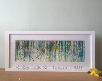 Birches - framed giclee print