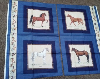 VIP Horses Fabric Panel