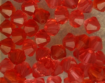 Swarovski 4mm Bicone Faceted Crystal Beads - PADPARADSCHA x 20 Beads