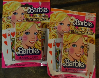 Barbie Plastic Coated Playing Cards