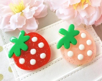 Sweet Kawaii Strawberry Planner Clips