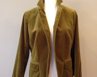 Vintage fitted velvet blazer - size 12- size L