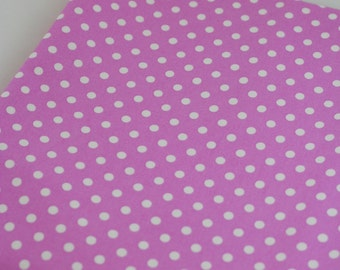 DUMB DOT in Petal -White on Pink Polka Dot Michael Miller