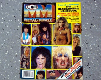 Faces Magazine - Metal Muscle -  Fall 1985