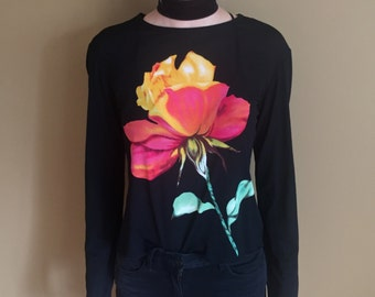 90's Club Kid Sheer Floral shirt