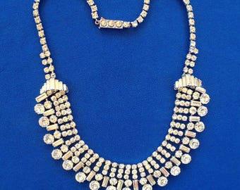 1930s Art Deco Rhinestone Necklace