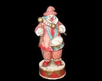Vintage Musical Clown, Figurine, Collectible Figurine, Home Decor, Vintage Clown, Musical Clown, Nursery Decor, Kid's Decor, Clown Decor