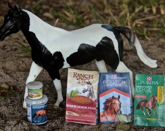 1:9 Scale Prop Feed Items for Breyer Model Horses