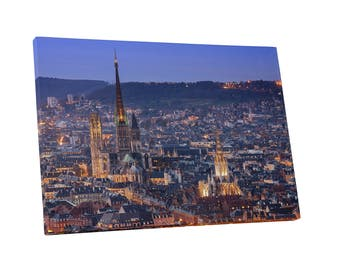 Castles and Cathedrals Rouen Normandy France Gallery Wrapped Canvas Print