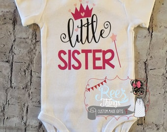 Mothers day baby etsy funny little sister bodysuit infant baby shirt toddler announcement negle Choice Image