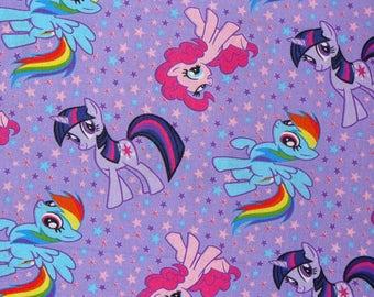 My Little Pony Fabric 100% Cotton Hasbro My Little Pony Fabric Prewashed