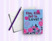 Kiss Kiss Fall In Love Greeting Card