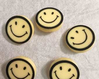 Vintage 70's smily face hippie buttons