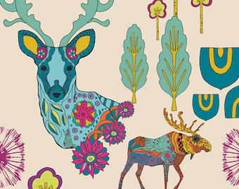 Dreamlandia Illuminated from Utopia by Frances Newcombe for Art Gallery Fabrics