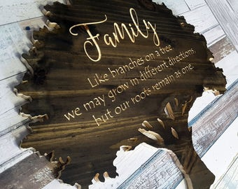 Family like branches on a tree we may grow in different directions | Inspirational Gift | Gifts for Mom