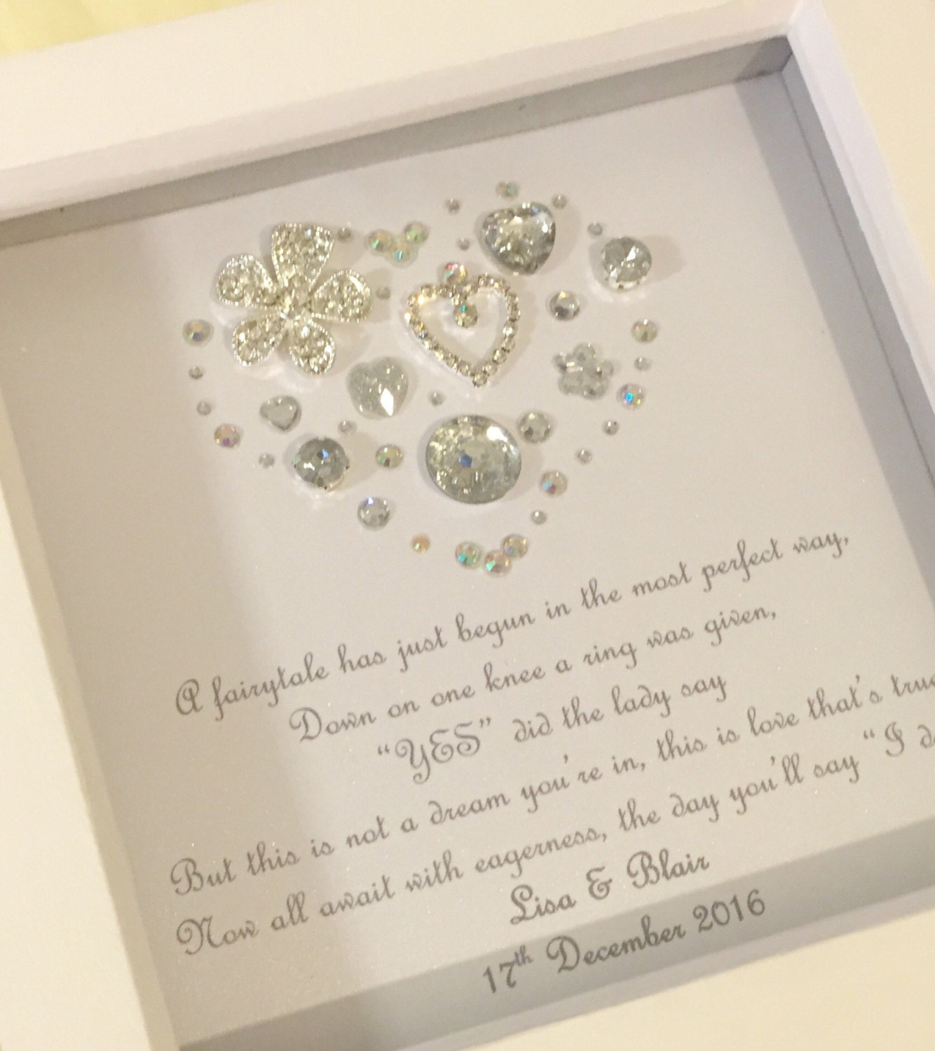 Engagement Gifts: Personalised Engagement Gift Personalized Engagement Present