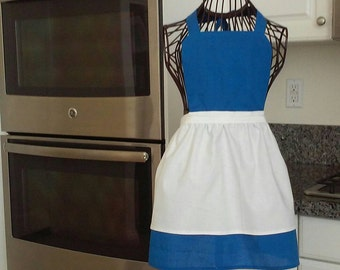 Girls Beauty and the Beast village Belle apron