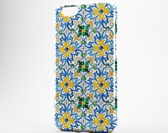 Moroccan iPhone Case Yellow iPhone 7/8 Case iPhone 8 Plus iPhone X Case iPhone 6 Plus iPhone SE iPhone 5 iPhone 7 Plus Marble Galaxy S8 Case