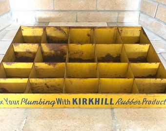 Kirkhill Rubber Products Metal Display / General Store Display Case / Industrial Organization