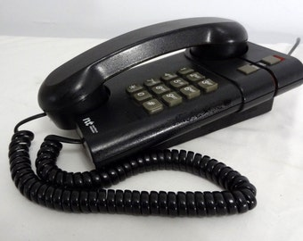 NT Vintage 80's 90's Telephone Northern Telecom Black Works!