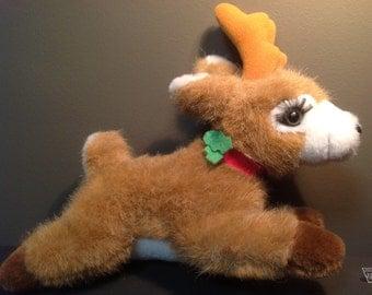 Vintage Reindeer Stuffed Animal, Vintage Christmas Reindeer, Vintage Christmas Decor, Vintage Reindeer, Vintage Shimmer Reindeer