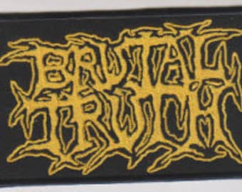 Brutal Truth punk hardcore embroidered patch