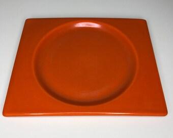 vintage Metlox Pintoria small plate orange