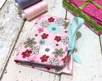 Floral Needle Book *** REDUCED - SEE DESCRIPTION *** Quilted Needlebook, Felt Needle Case, Seamstress Gift, Sewing Accessories