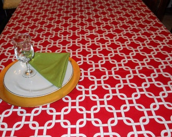 Christmas Table Cloth Red White Linen Wedding Reception Banquet